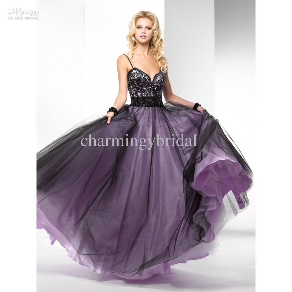 Fabulous sexy prom dress simple aline straps black floorlength