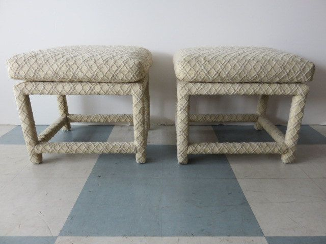 Pair Of Mid-Century Modern Stools/Ottomans Signed, Milo Baughman For Thayer Coggins All Original. by FLORIDAMODERN on Etsy