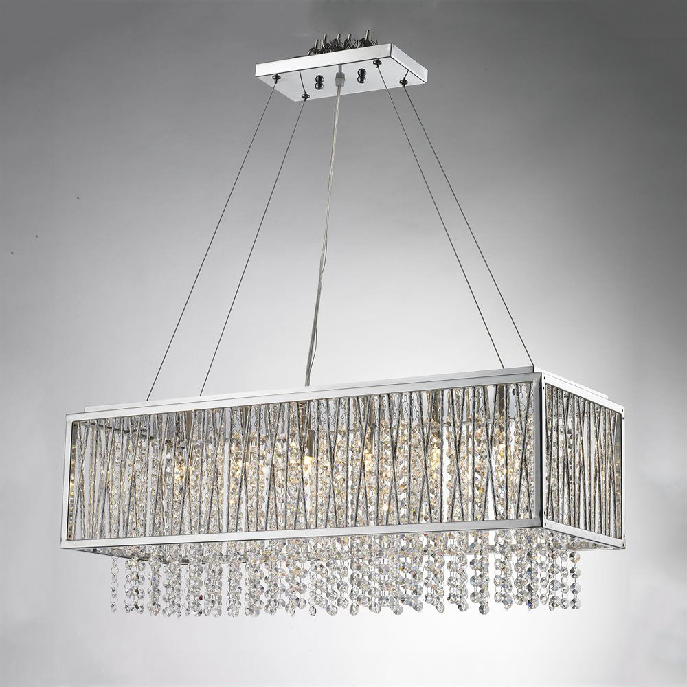 Bethel International 6 Light Ys Series Large Rectangular Crystal Pendant At Lowe S Canada Find Our Selection Of Lights The Lowest Price