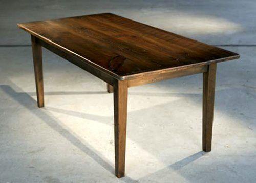 Barn Board Farm Table In Antique Walnut Finish By