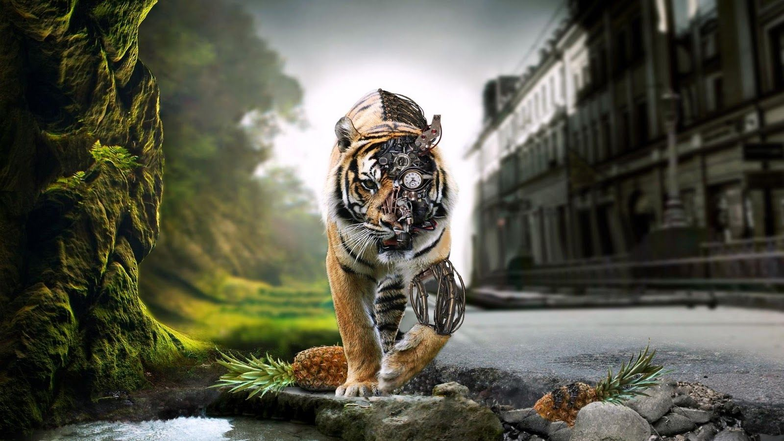 Digital art cyborg tiger digital art cyborg tiger art cyborg digital games gaming tiger wallpaper desktopwallpaper hdwallpaper gaming games altavistaventures