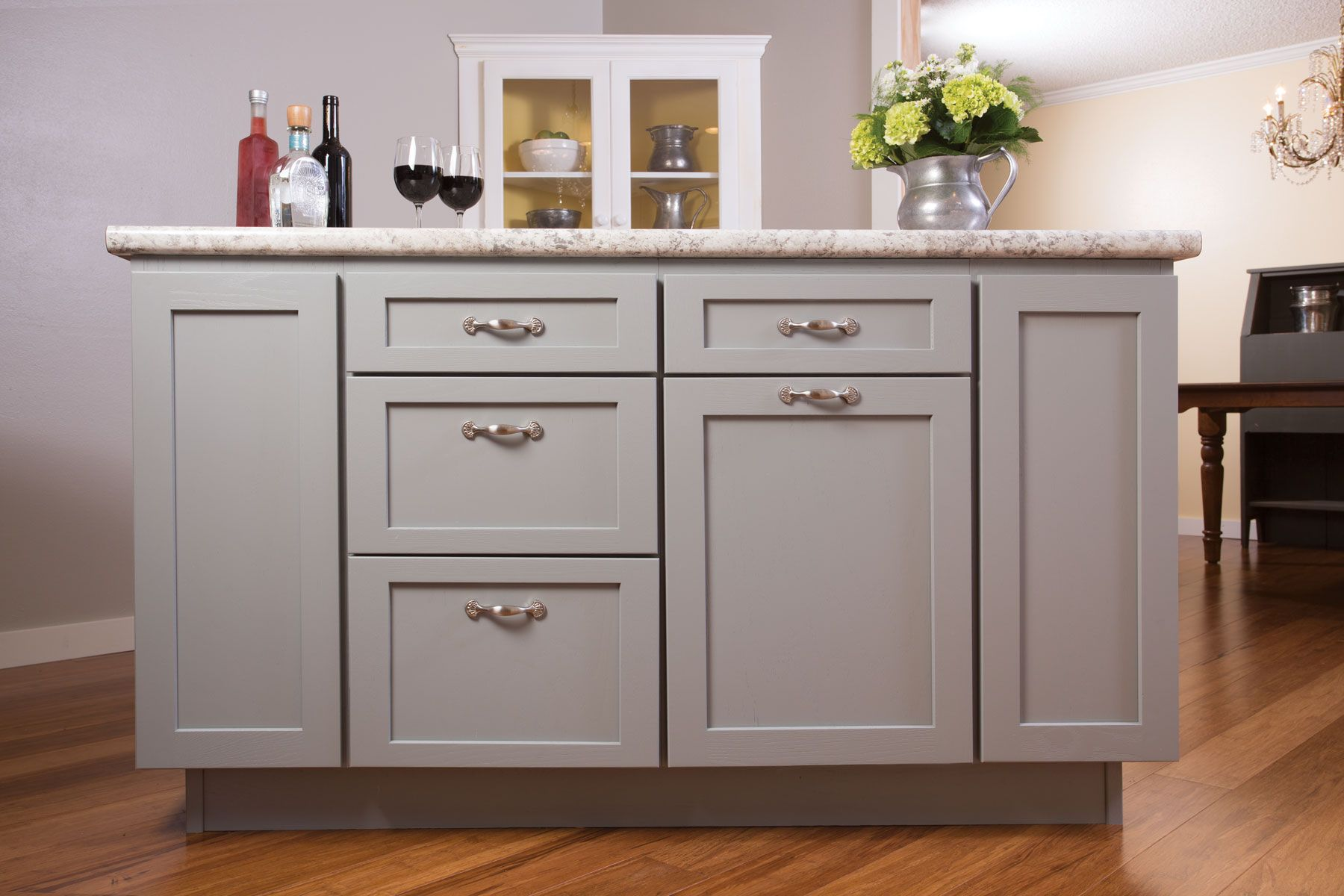 A Remodel In Central Sioux Falls Turned A Forgettable Kitchen Into A Vibrant Gathering Space Jeff Ptacek One Wall Kitchen Distressed Cabinets Kitchen Design