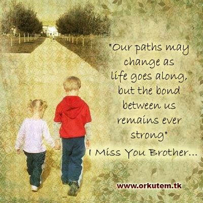 Miss my brother, wish his path was not in heaven already ...
