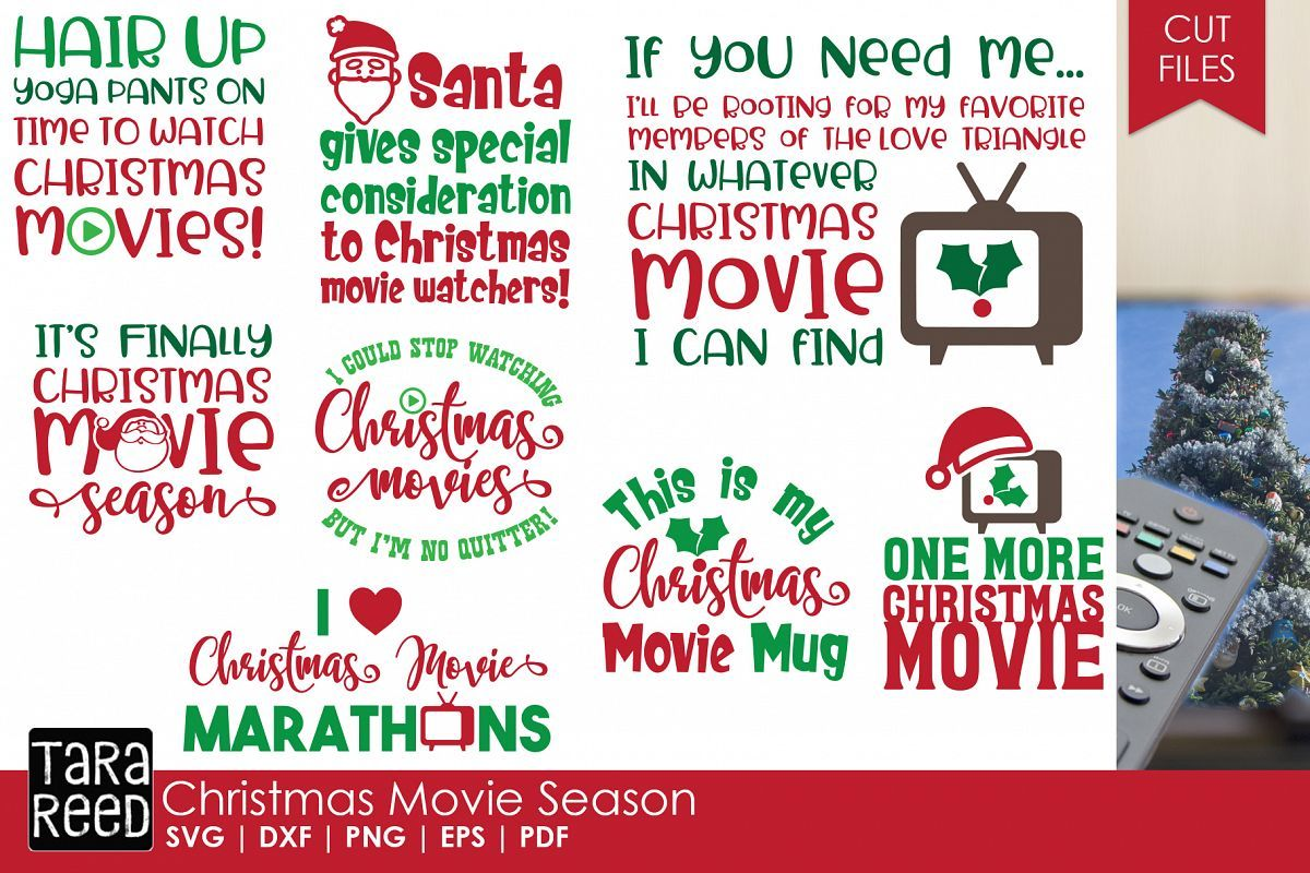 Christmas Movie Season Christmas SVG Files for Crafters