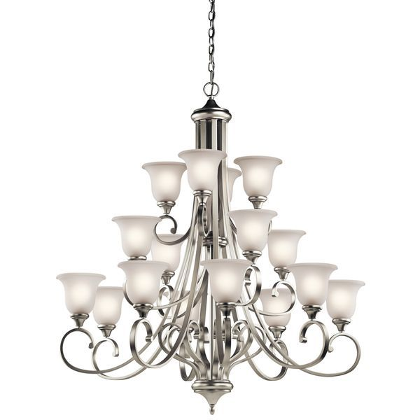 Gracewood Hollow Feraoun Collection 16 Light Brushed Nickel Led Chandelier In 2019 Chandelier