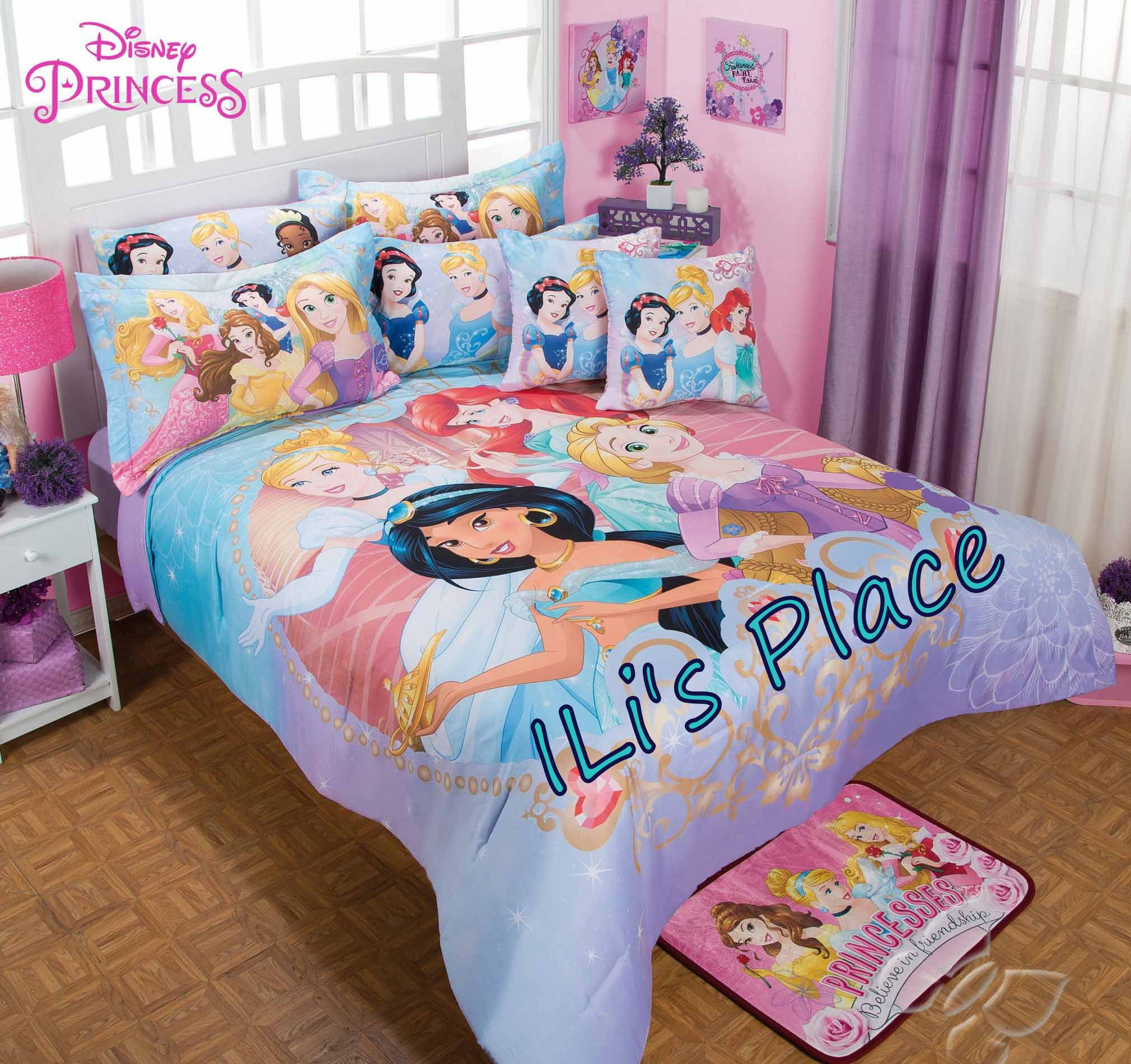 girls disney princess comforter set