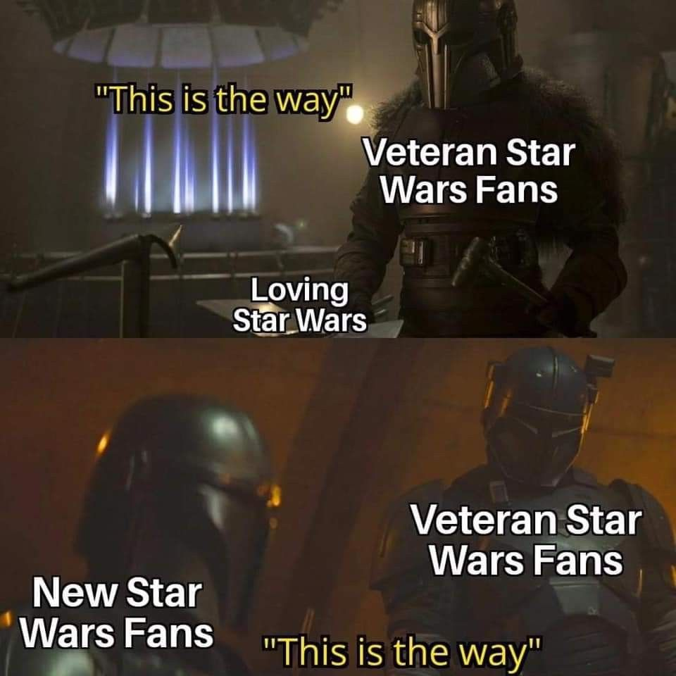 Welcome To All The New Fans This Is The Way Star Wars Jokes Star Wars Humor Star Wars Song