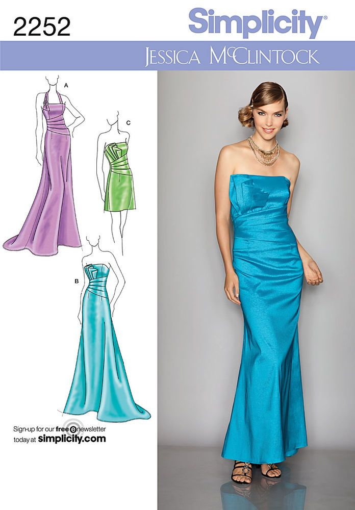 misses\' evening dress in two lengths by jessica mcclintock ...