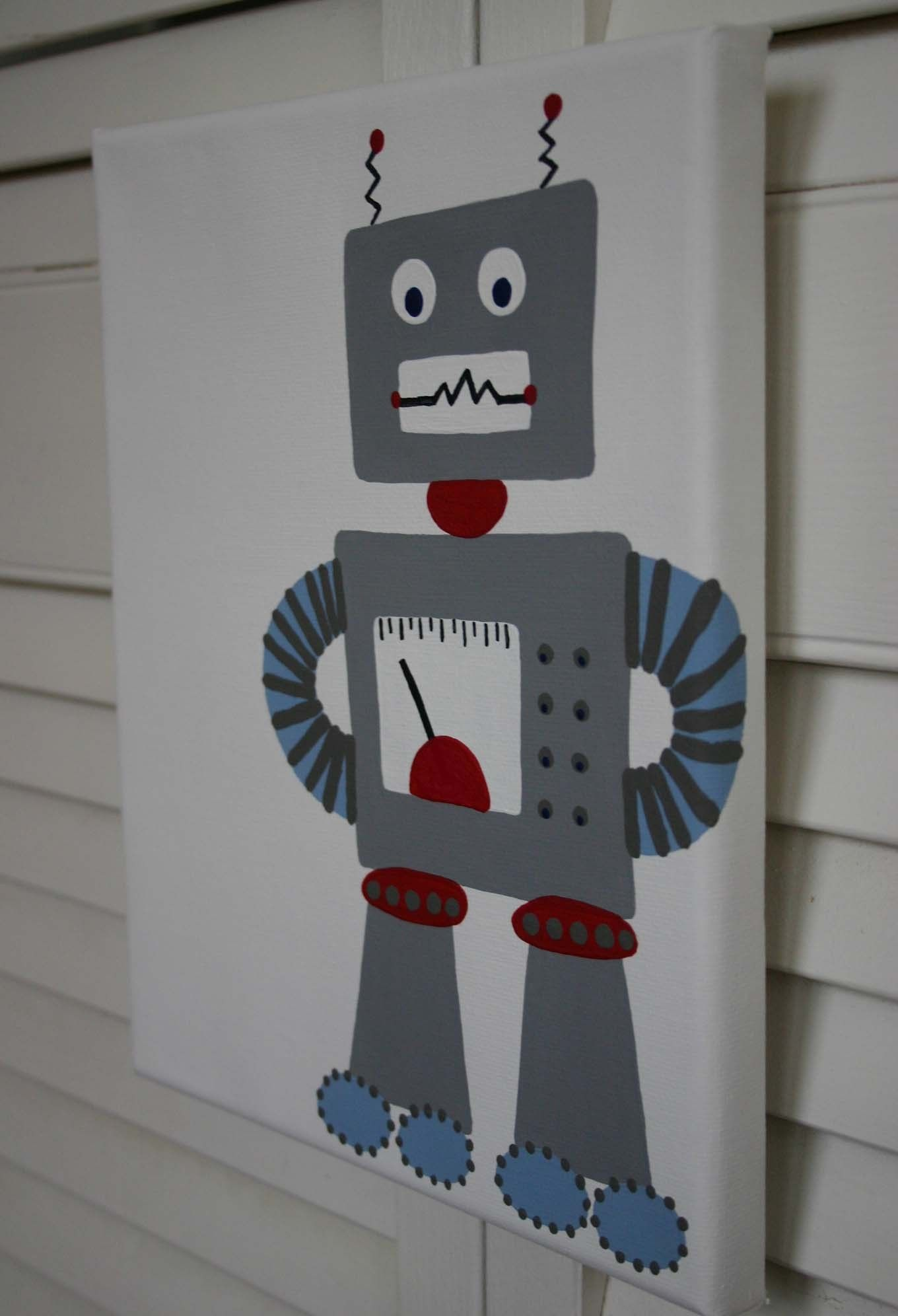 Pin the part on the robot drawing