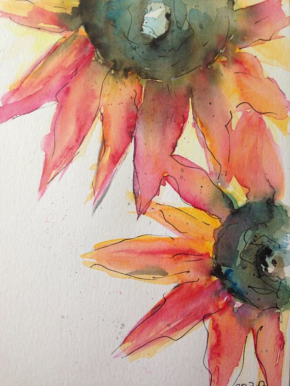 Pin By Cynthia Jameson On Watercolor Sunflowers Painting