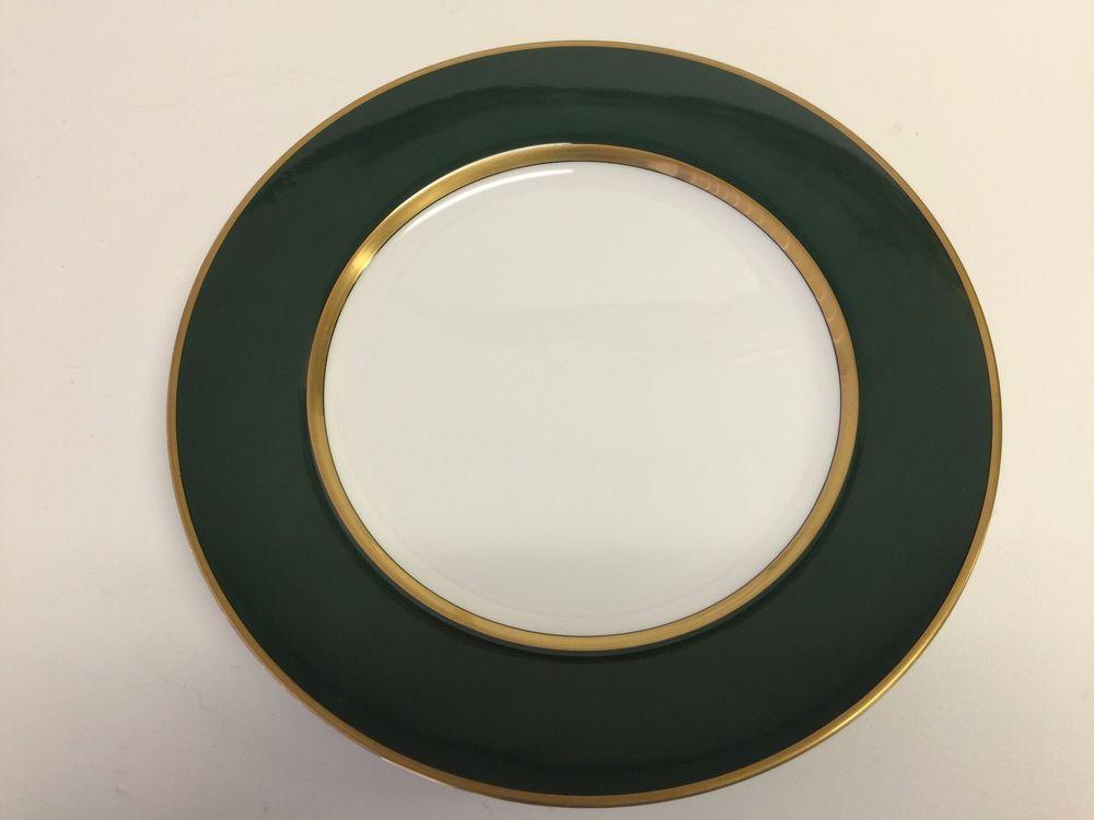 Fitz u0026 Floyd  Renaissance  Dark Green Plate 12  Diameter & Fitz u0026 Floyd
