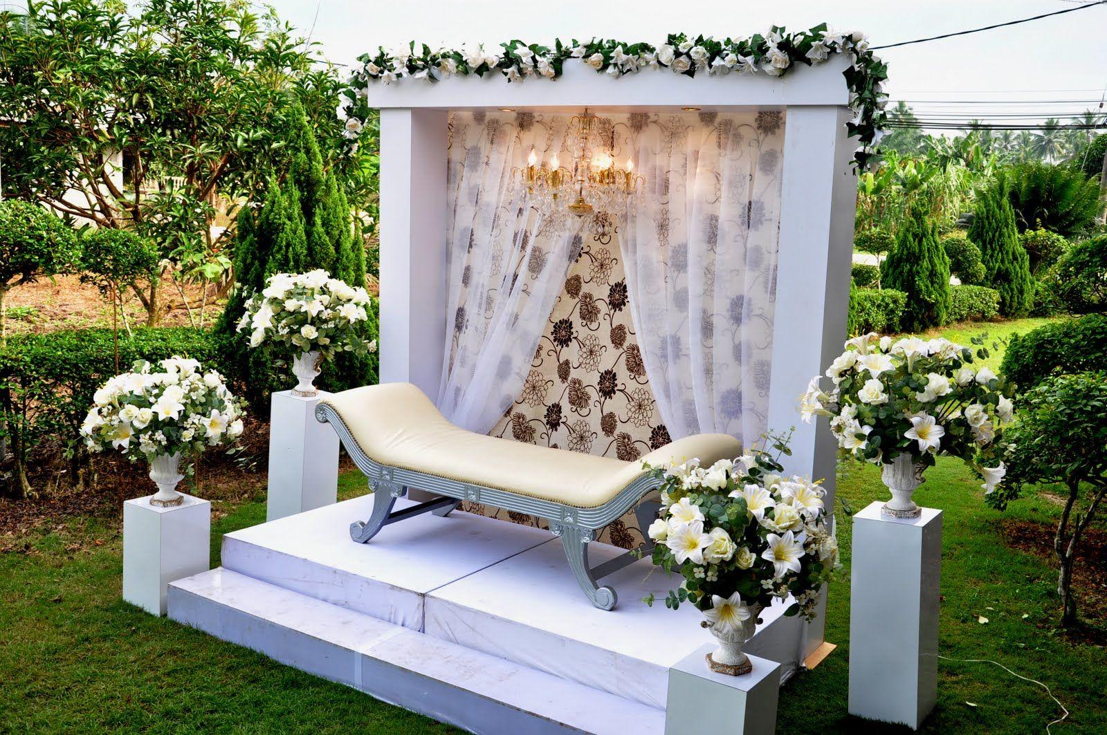 Contoh Foto Pelamin Garden | Ide perkawinan