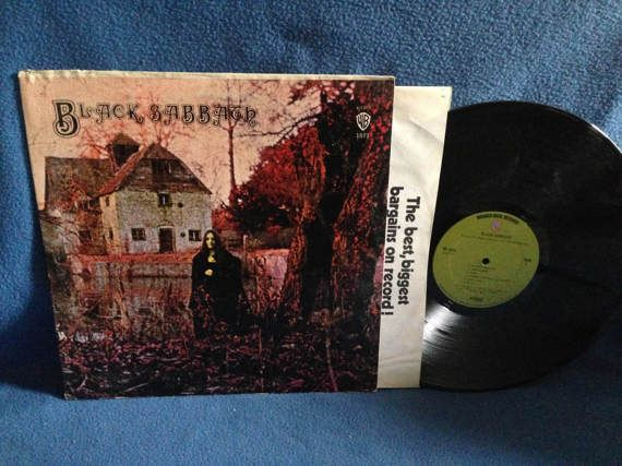 Rare Vintage Black Sabbath Black Sabbath Vinyl By Sweetleafvinyl Vinyl Sales Black Sabbath Vintage Black