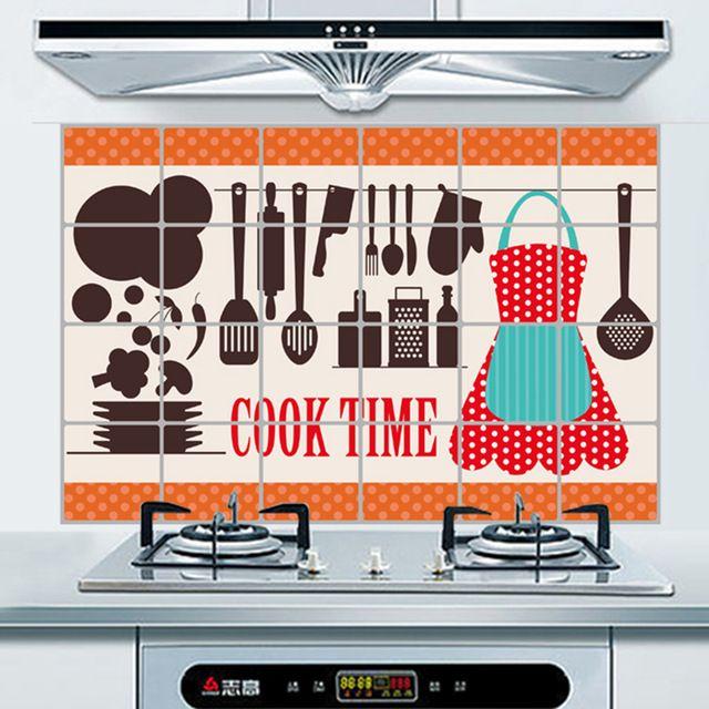 Temps De Cuisson Motif Anti Huile De Cuisine Appareil Stickers