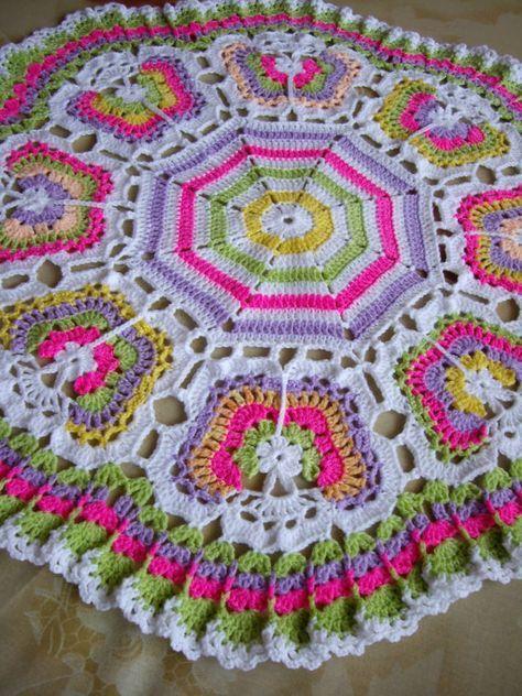 Butterflies Crochet Blanket | Ganchillo mantas, Abuelas y Manta