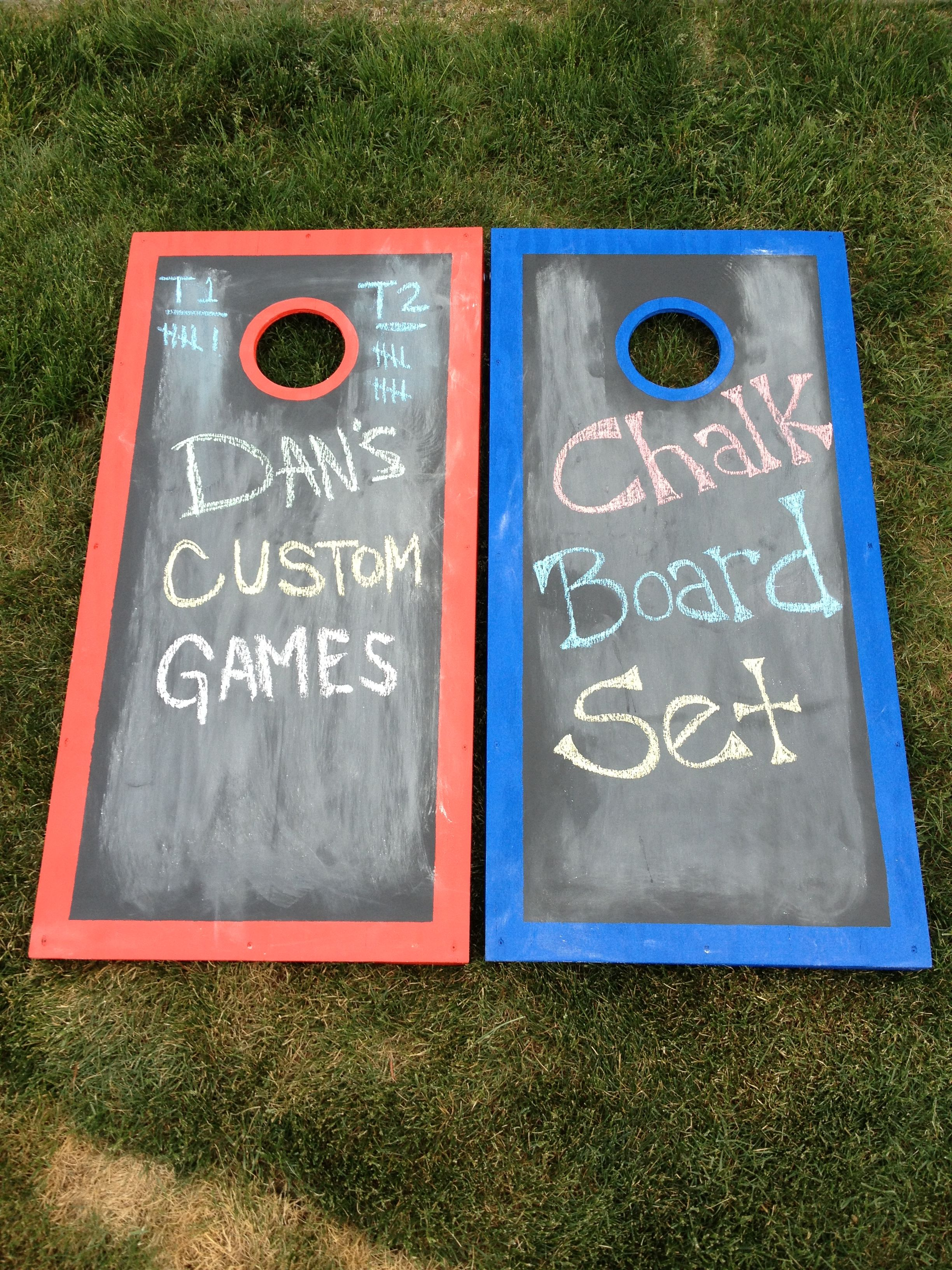 Cornhole Design Ideas cornhole boards so cute could do one red and one blue Draw Your Own Designs Each Round With This Chalk Board Set Www