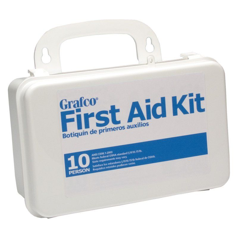 Grafco 10 Person First Aid Kit 89 Pieces 1799 10p First Aid Kit First Aid Medical Supplies
