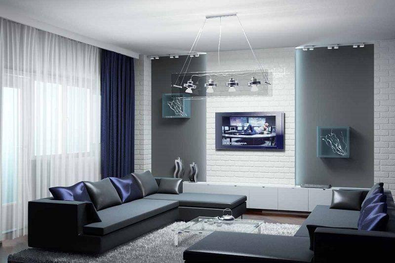 модный мужской интерьер 2018 2019 дизайн комнаты холостяка