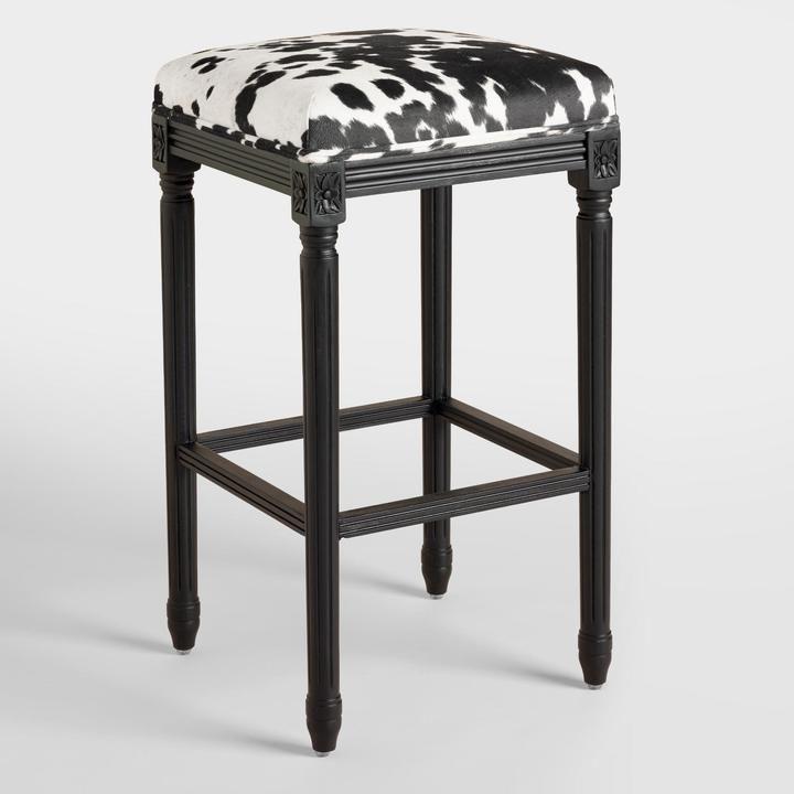 Astonishing Domino Black Frame Paige Backless Barstool Take A Seat Dailytribune Chair Design For Home Dailytribuneorg
