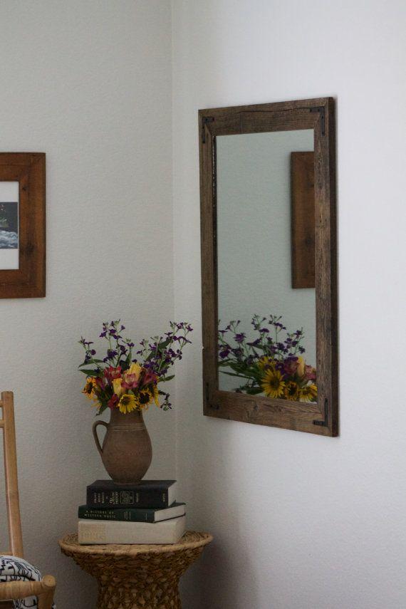 Rustic Wall Mirror Large Wall Mirror 30 X 36 Vanity Mirror Wood Mirror Rustic Wall Mirrors Large Wall Mirror 30 x 36 mirror