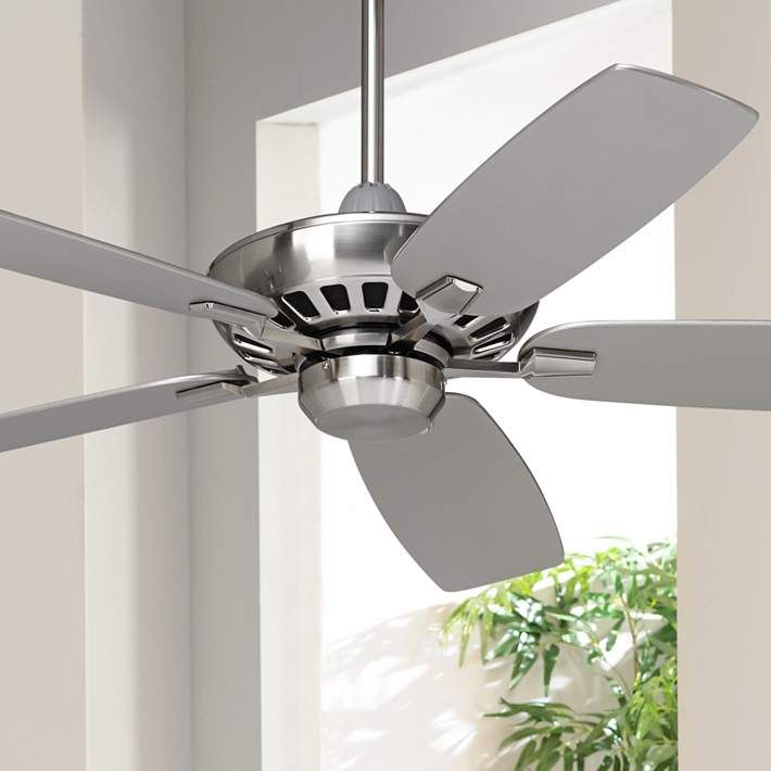 """High Quality Ceiling Fan With Lights For Living Room 52: 52"""" Casa Vieja Journey Brushed Nickel Ceiling Fan"""
