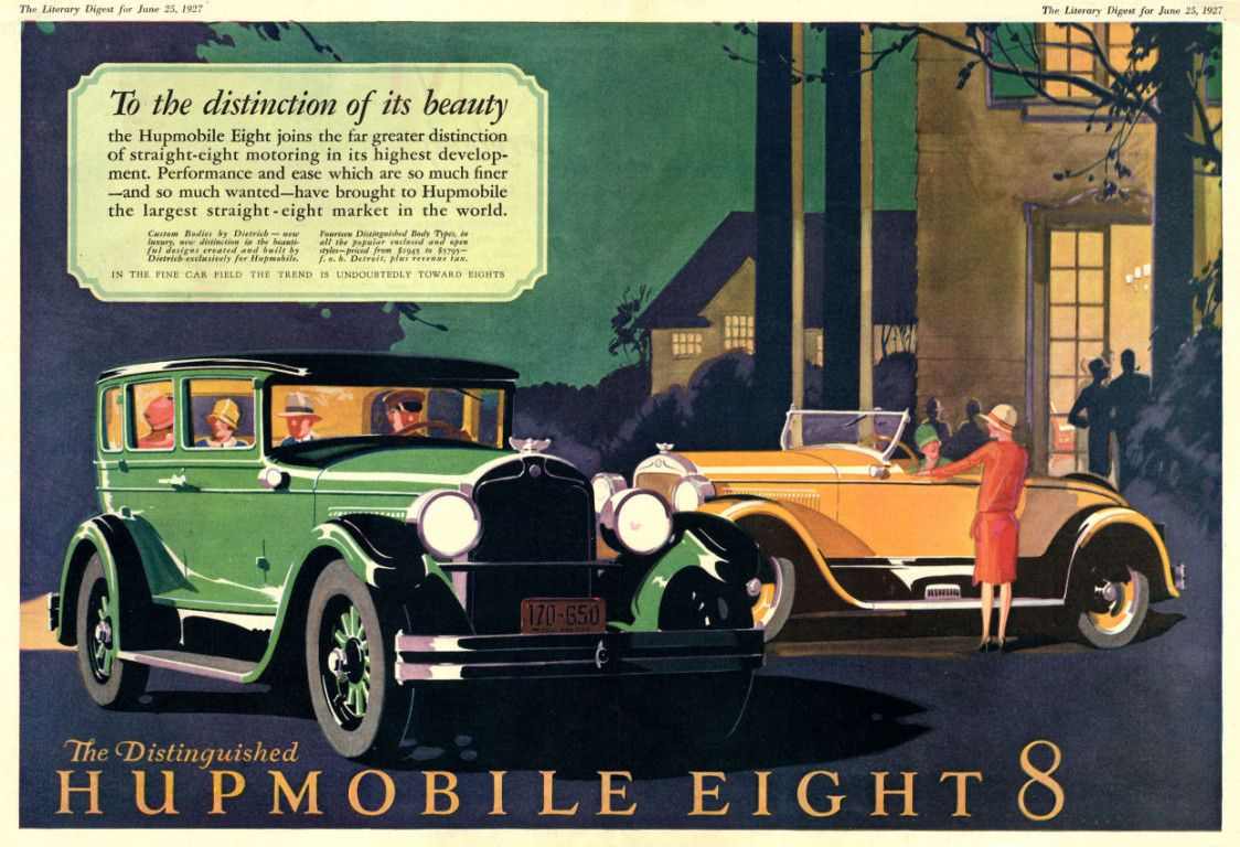 Old car ads home old car brochures old car manual project | Retro ...