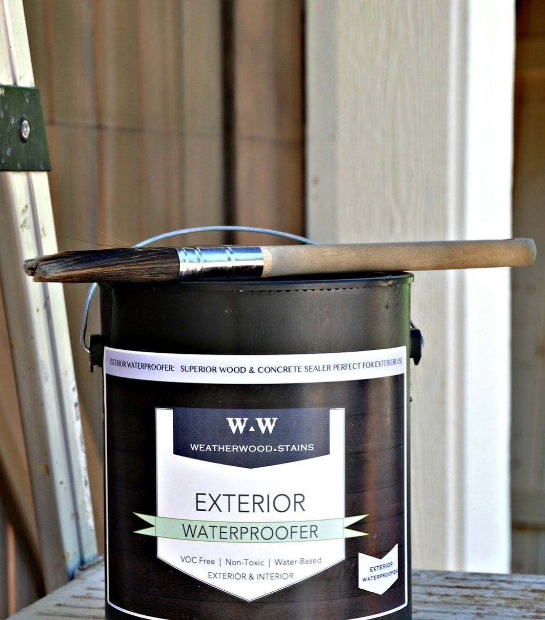 Weatherwood Stain's EXTERIOR WATERPROOFER is more than a
