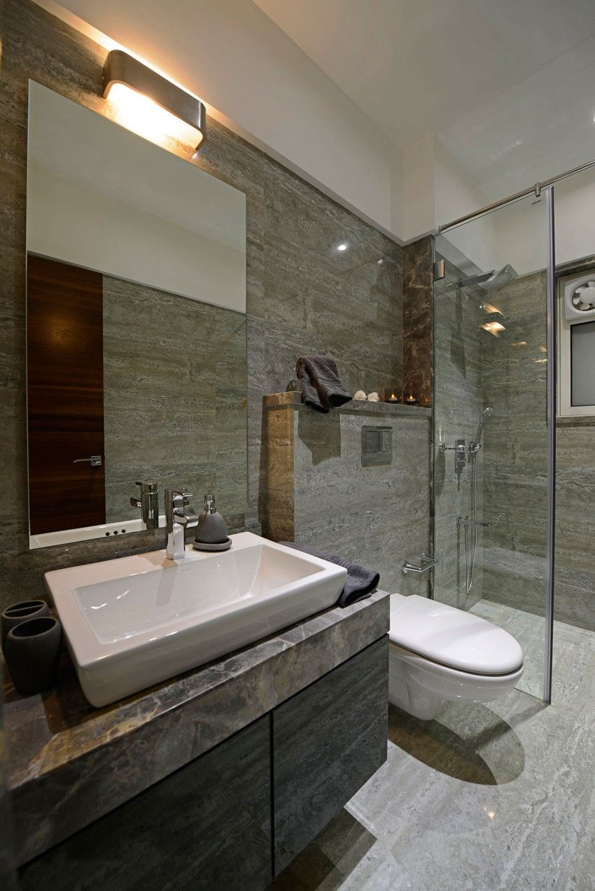 Planos y diseño de interiores de departamento de tres habitaciones ...