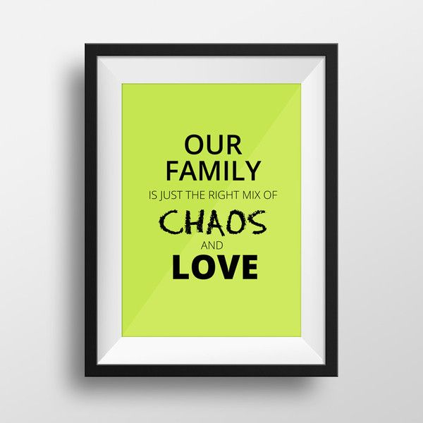 Our Family - Family Quote Print For The Home #family #quote #home