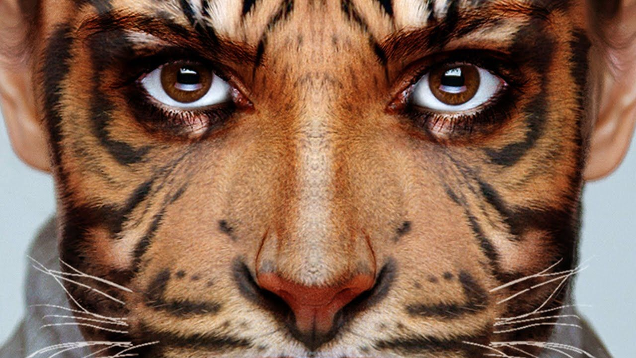 Transform your face into an animal photoshop adobe photoshop this tutorial by blue lightning tv will show you how to blend an animal face witha human one in adobe photoshop watch video tutorial here baditri Images