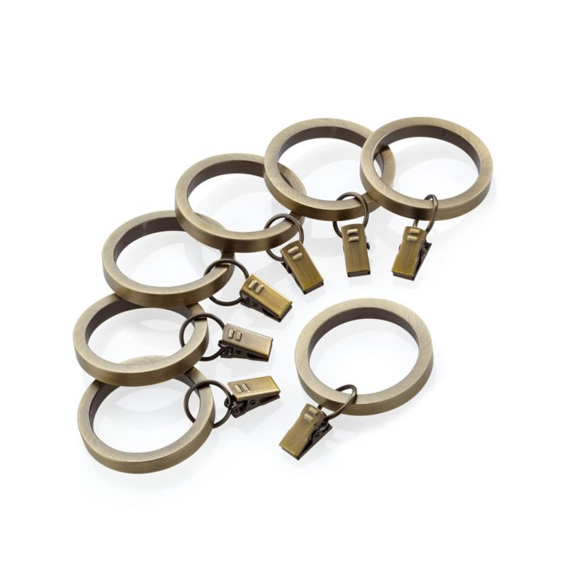Antique Brass Curtain Rings Set Of 7 Reviews Crate And Barrel