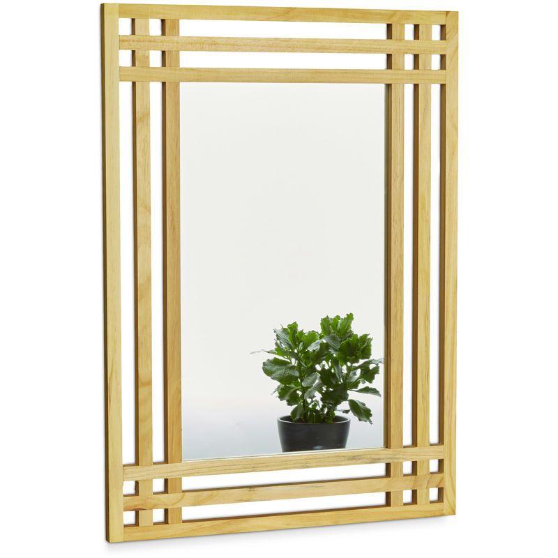 Miroir En Bois De Pin Fixation Murale Salle De Bain Couloir Salon