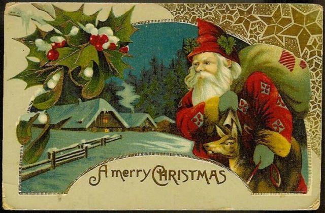 vintage christmas cards | ... Crafts » Blog Archive » Free Vintage Santa Claus Christmas Cards