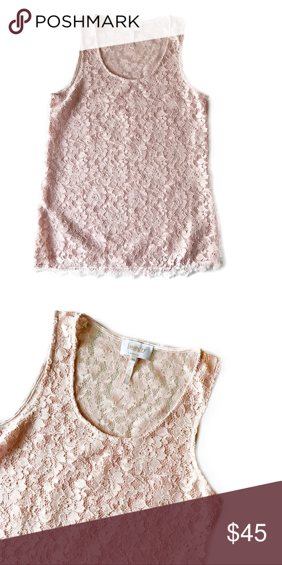 Shelli Segal Blush Pink Lace Tank Laundry By Ss Good Condition Open To Offers Via Button Laundry By Shelli Segal Tops Tank Tops Clothes Design Fashion