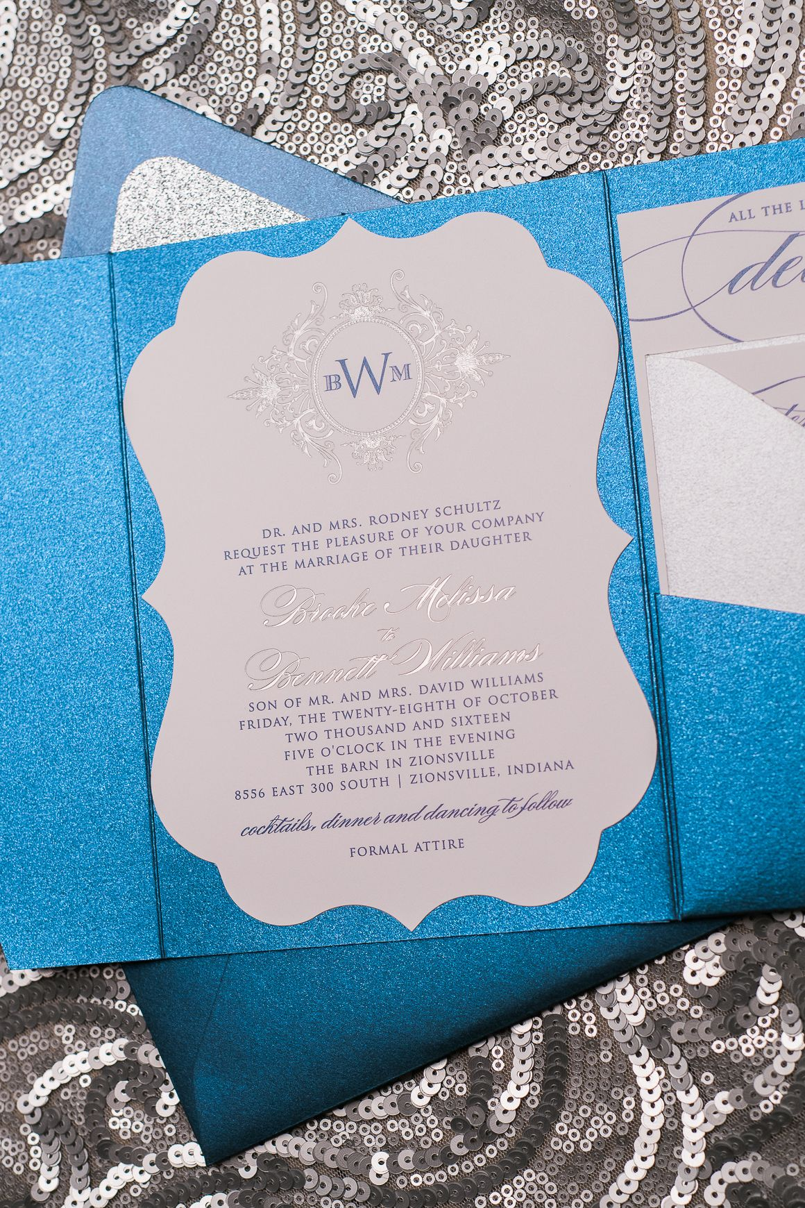 Real Wedding: Brooke and Bennett | Silver wedding colours, Wedding ...