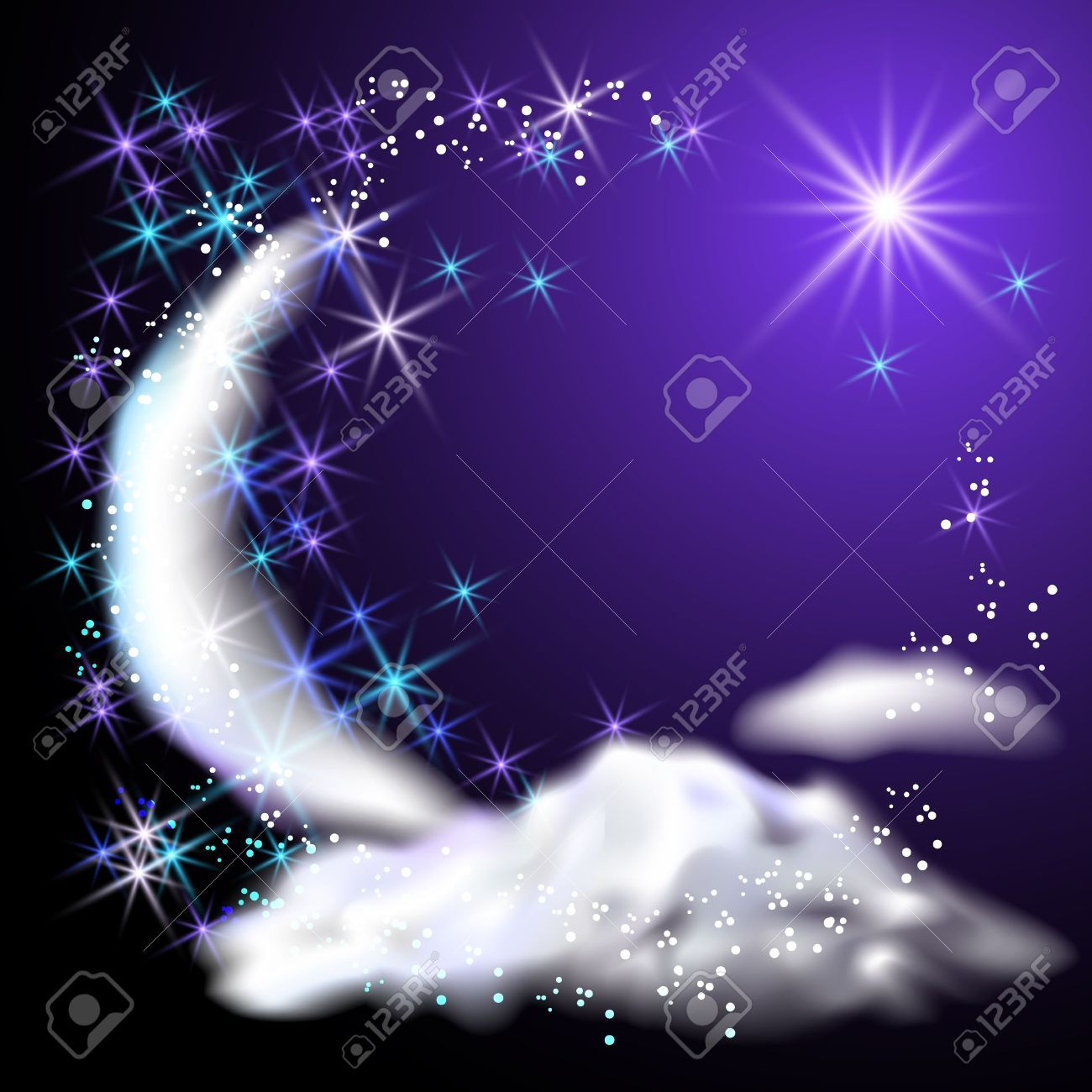 Moon And Stars Stock Illustrations, Cliparts And Royalty Free Moon ...