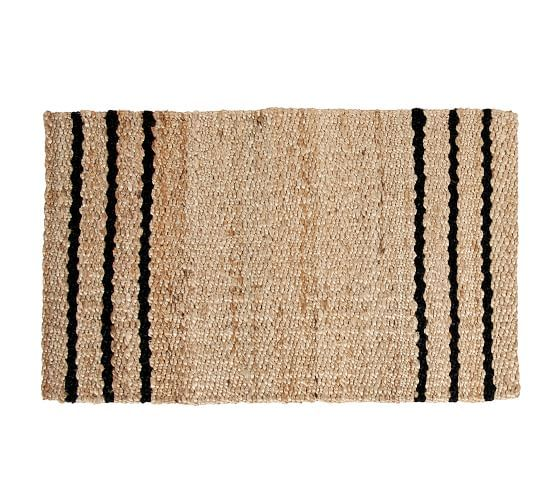 Three Stripe Natural Fiber Doormat In 2020 Pottery Barn
