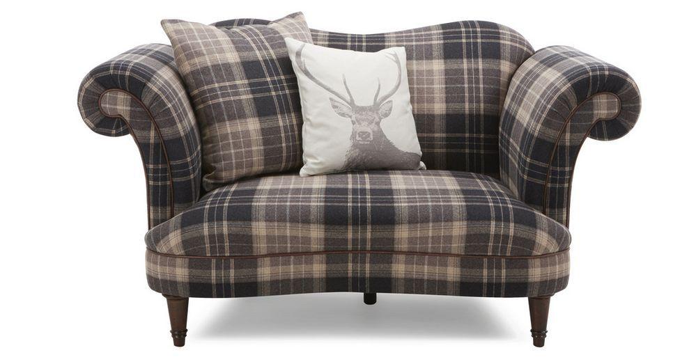 Moray Check Cuddler Sofa Dfs