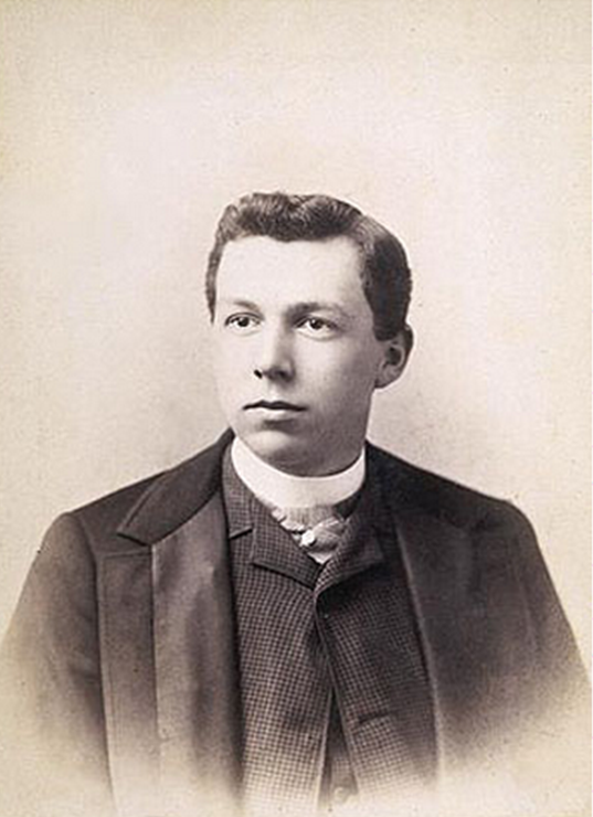 Young Frank Lloyd Wright (age 18)