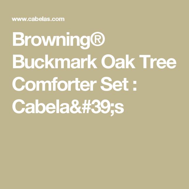 Browning® Buckmark Oak Tree Comforter Set : Cabela's