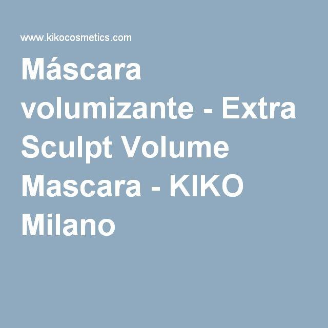 Máscara volumizante - Extra Sculpt Volume Mascara - KIKO Milano