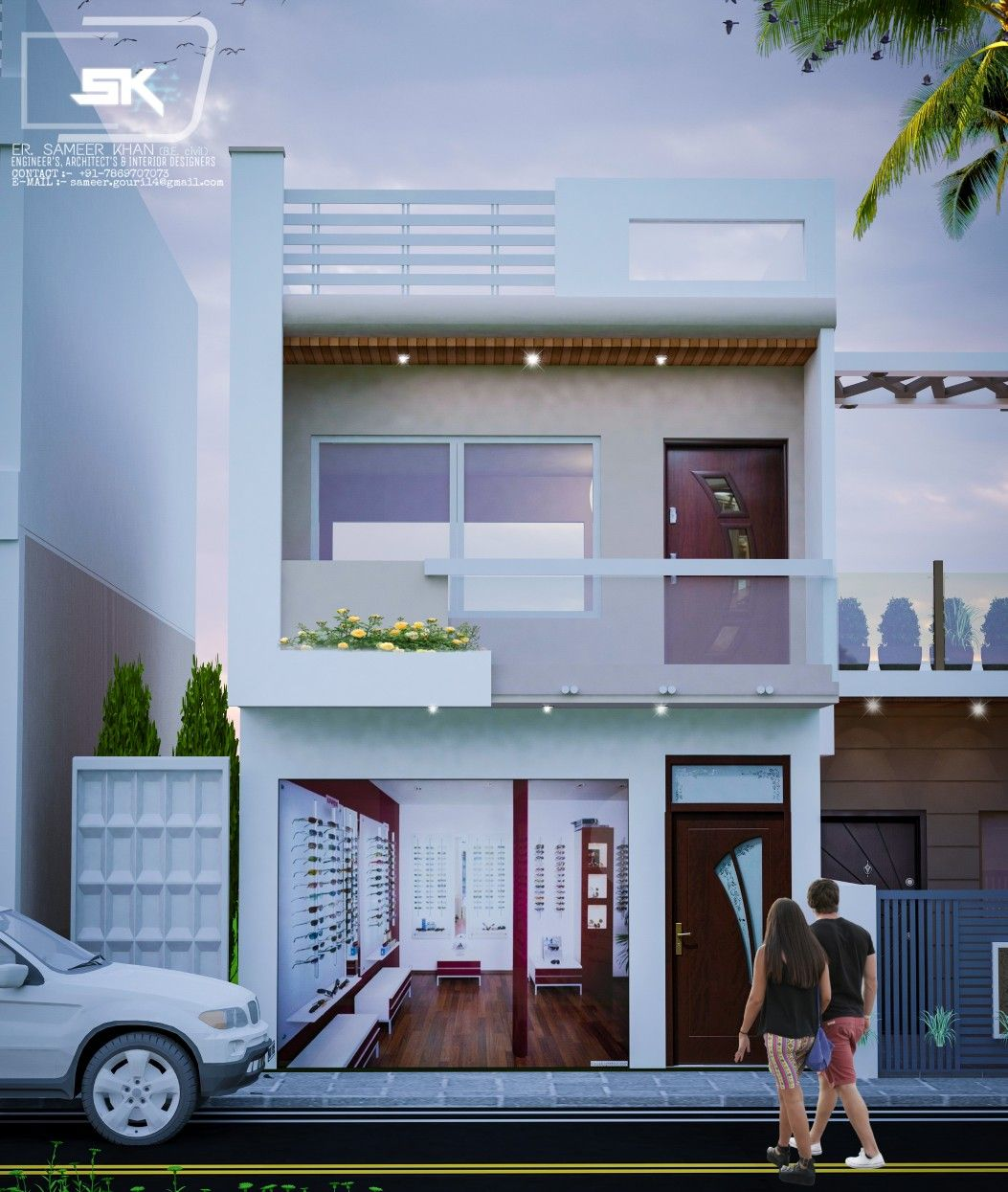 Modern Indian Architecture Google Search: Introducing Modern House Exterior Elevation Of G+1 Indian