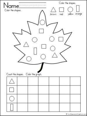 Graphing Shapes Fall Leaf Theme Teacher Ideas Fall