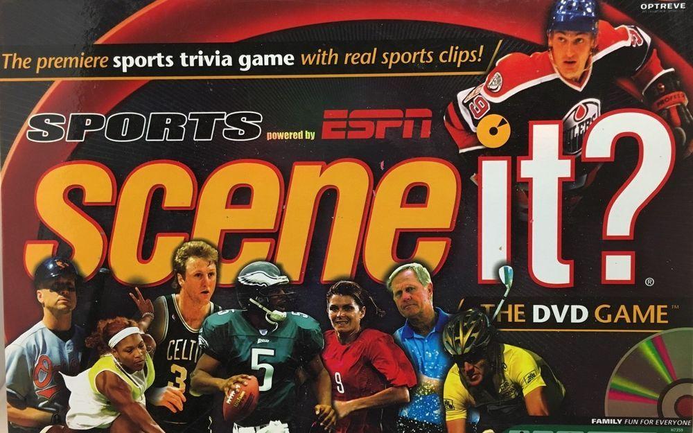 Scene It? Sports Powered by ESPN Board Game Mattel 7359