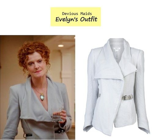 Rebecca Wisocky as Evelyn Powell in Devious Maids - \u201cSetting the Table\u201d (Ep. Evelyn\u0027s Belted Blazer Helmut.  sc 1 st  Pinterest & On the blog: Evelyn\u0027s (Rebecca Wisocky) light gray belted blazer ...