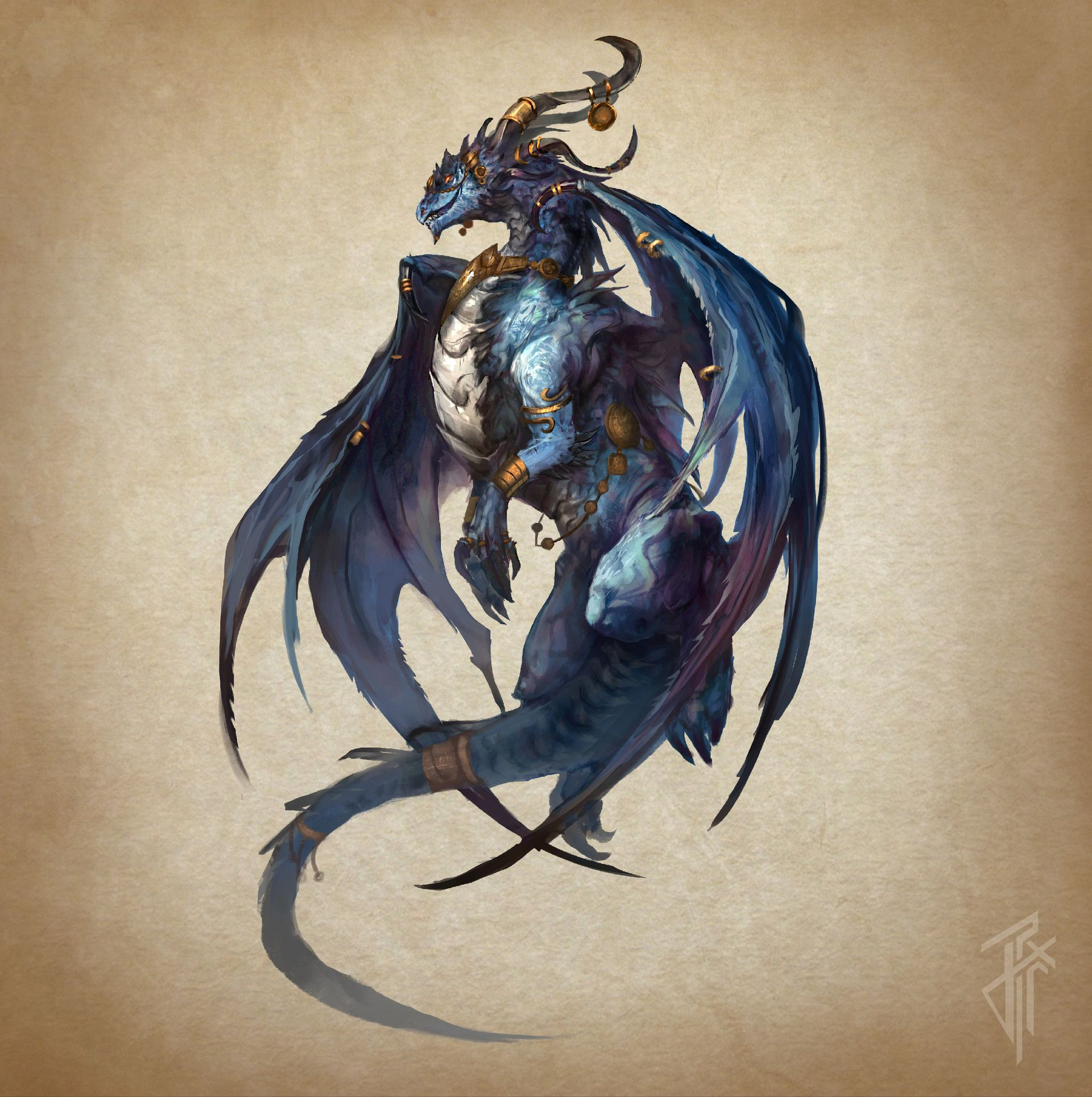 ArtStation - Blue Dragon, Julien Carrasco