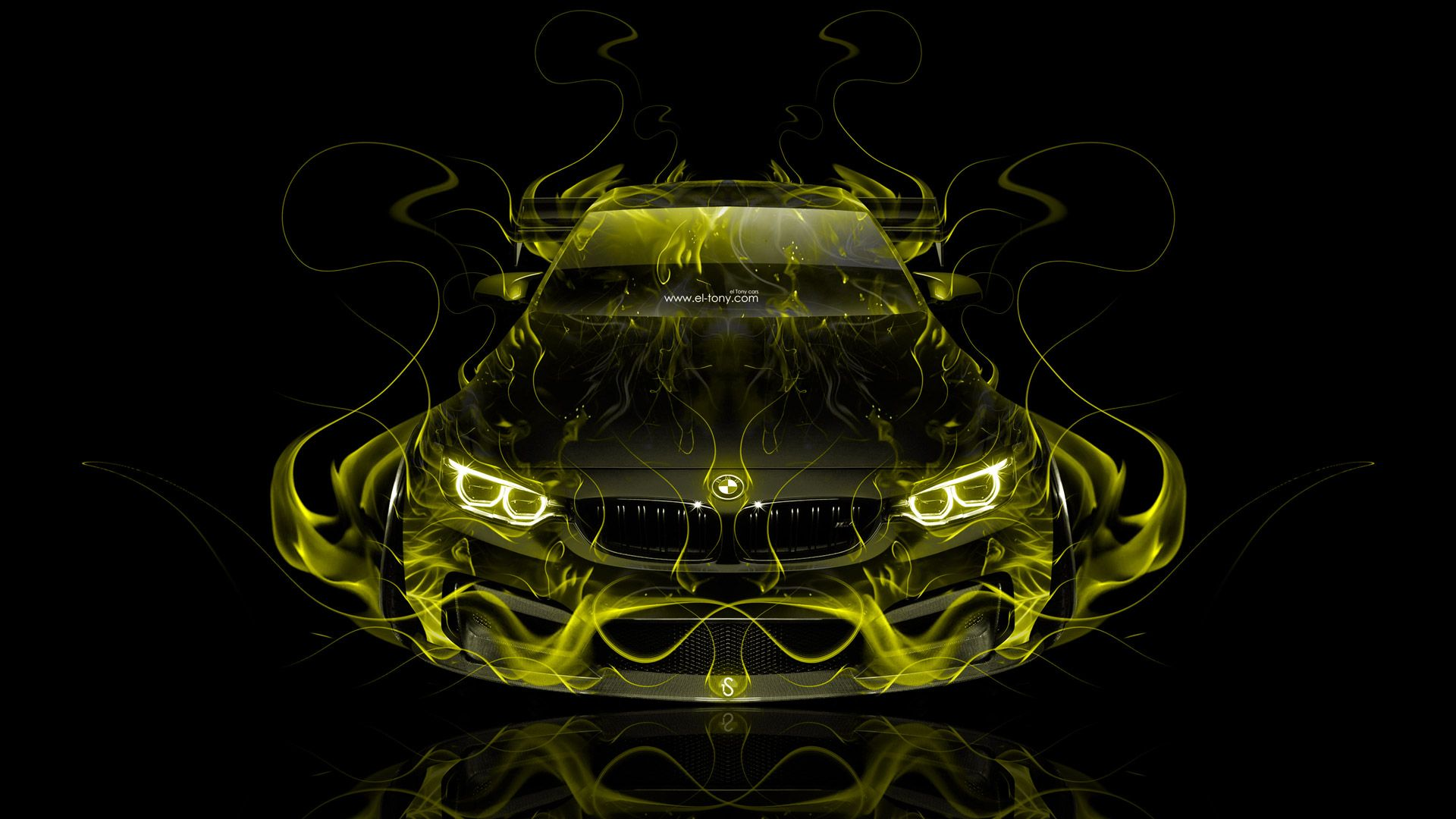 Charmant BMW M4 Tuning FrontUp Super Fire Flame Abstract