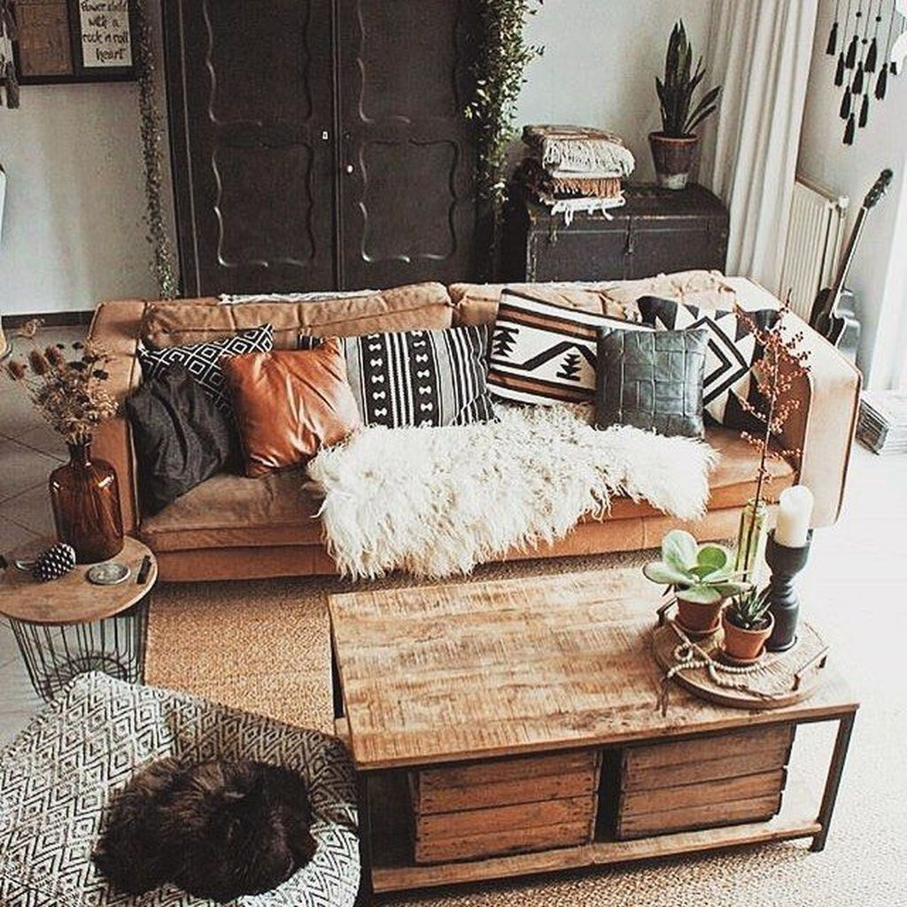 46 The Best Bohemian Farmhouse Decorating Ideas For Your Living Room Pimphomee Farm House Living Room Living Room Designs Living Room Decor