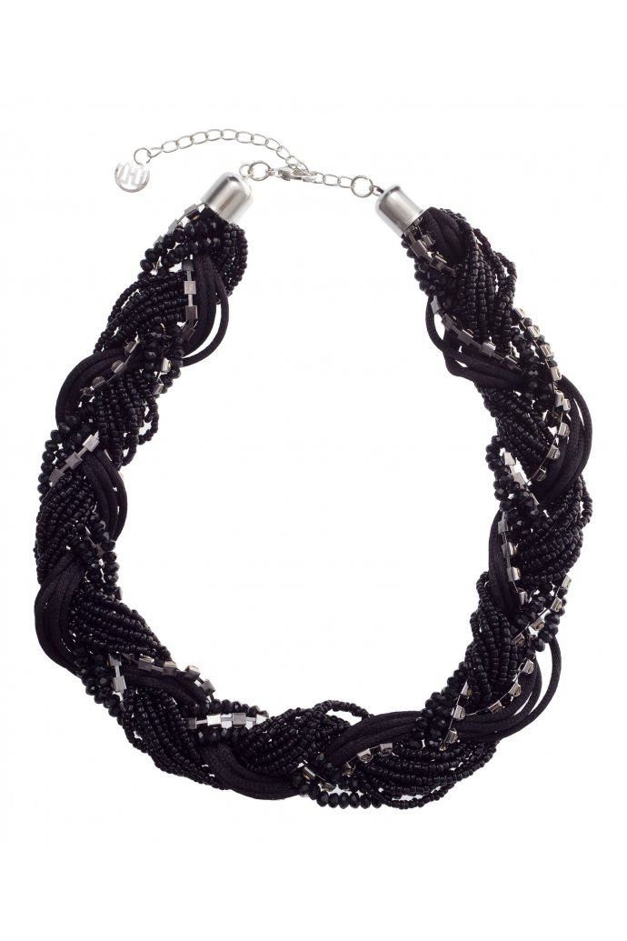 cbch Crystal Bead Plaited Necklace
