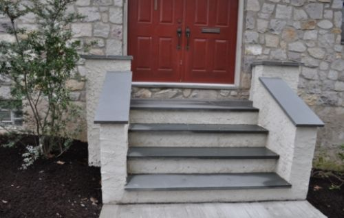 A step by step post for a job of building some steps out of